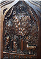 TF5565 : Legend of St Hubert carving, St Mary's Winthorpe by J.Hannan-Briggs