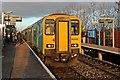 SJ3068 : Arriva Trains Wales Class 150, 150253, Shotton High Level railway station by El Pollock