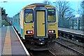 SJ2881 : Arriva Trains Wales Class 150, 150231, Heswall railway station by El Pollock