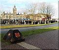 ST3188 : Town Reach pyramid alongside Kingsway, Newport by Jaggery