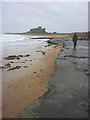 NU1735 : Harkess Rocks and Bamburgh Castle by Karl and Ali