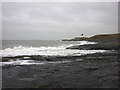 NU1736 : Wave-cut platform, Blackrocks Point by Karl and Ali