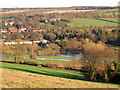 TQ5466 : River Darent in flood at Farningham by Stephen Craven