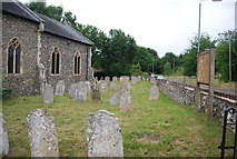 TG1807 : Church of St Andrew graveyard by N Chadwick