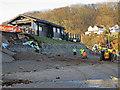 NZ8612 : Surge tide damage, Sandsend by Pauline E
