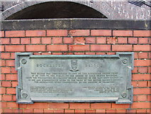 TQ7369 : Plaque by Rochester Bridge by Chris Whippet