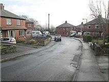 SE0724 : Crestfield Drive - looking towards Pye Nest Road by Betty Longbottom