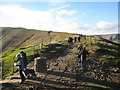 SK1384 : Hollins Cross and many ways-Edale, Derbyshire by Martin Richard Phelan