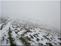 NY3418 : Footpath above Stanahgill Head by Graham Robson
