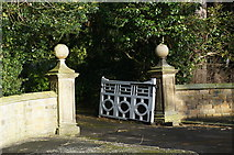 SK2169 : Burre House, main entrance gateway by Peter Barr