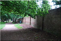 TG1908 : Wall of Walled garden, Earlham Park by N Chadwick