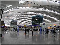 TQ0575 : Heathrow Terminal 5 Departures by Richard Cooke