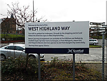 NS5574 : Scotrail West Highland Way sign by Thomas Nugent