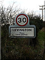 TM2339 : Levington Village Name sign by Adrian Cable