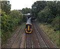 SU1430 : DMU south of Churchill Way North, Salisbury by Jaggery