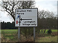 TM2440 : Roadsign on Felixstowe Road by Adrian Cable