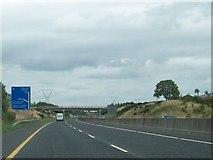N4137 : The Daingean Road Bridge over the M6 near Tyrrellspass by Eric Jones
