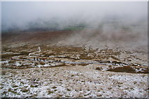 SD7942 : Descent of the northern side of Pendle by Bill Boaden