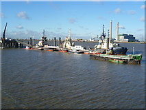 TQ6674 : Tugs and Denton Wharf by Marathon