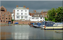 SO8171 : Stourport Clock Basin, Worcestershire by Roger  Kidd