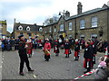TL2797 : Manor Mill Morris dancers on The Market Place - Whittlesea Straw Bear Festival 2014 by Richard Humphrey