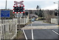 SS8883 : North side of Fountain level crossing near Aberkenfig by Jaggery