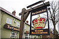 SE3765 : Inn Sign - Roecliffe  Crown Inn by Joy Newbould