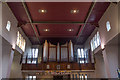 TQ2995 : Organ Pipes, St Thomas's Church, Prince George Avenue, London N14 by Christine Matthews