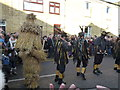 TL2696 : Witchmen Border Morris at Letter B - Whittlesea Straw Bear Festival 2014 by Richard Humphrey