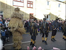 TL2696 : Witchmen Border Morris at Letter B - Whittlesea Straw Bear Festival 2014 by Richard Humphrey