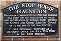 SP5365 : Detail of plaque on The Stop House, Braunston by Christopher Hall