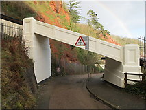 SX9265 : Cliff railway bridge over road by David Hawgood