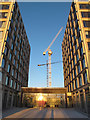 TQ3979 : Entrance to two new blocks by Stephen Craven