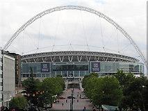 TQ1985 : Wembley Stadium, Olympic Way by Richard Cooke