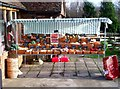 TQ4737 : Fruit and vegetable stall, Perryhill Orchards by nick macneill
