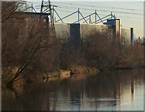 SK5802 : King Power Stadium along the River Soar by Mat Fascione