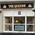 SJ9594 : The Queens: Etched Window by Gerald England