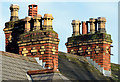 J3171 : Chimneys and chimney pots, Balmoral, Belfast by Albert Bridge