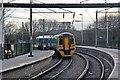 SJ5795 : Arriva Trains Wales Class 158, 158826, Earlestown railway station by El Pollock