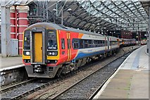SJ3590 : East Midlands Trains Class 158, 158799, Liverpool Lime Street railway station by El Pollock