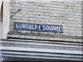 TQ7468 : Vintage street nameplate, Gundulph Square, Rochester by Chris Whippet