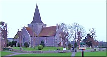 TQ5203 : St Andrew's Church, Alfriston by Len Williams