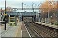 SJ3986 : Along platform 2, West Allerton railway station by El Pollock