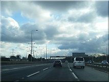 SJ8092 : M60 anti-clockwise at Junction 6 by Colin Pyle