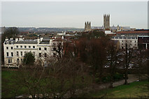 TR1457 : View From Dane John Mound, Canterbury by Peter Trimming