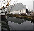 TQ7569 : No.4 Dry Dock & No.3 Covered Slip, Chatham Dockyard by Ian Taylor