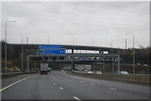 TL1103 : M25, Junction 21 overbridges by N Chadwick