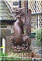 SH5948 : Dragon statue, Beddgelert by nick macneill