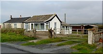 SH4356 : Seaside chalets, Dinas Dinlle by nick macneill