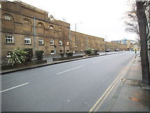 TQ2075 : Mortlake Brewery on Mortlake High Street by David Howard